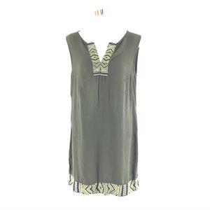 Apt 9 Shift Dress Embroidered Boho Sleeveless M